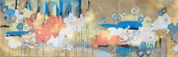 lotus flowers, painting, atmospheric, home decor, home design